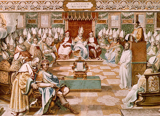 In A.D. 325, the Council of Nicaea—the first worldwide religious council—was held by Constantine I, the emperor of the Roman Empire.