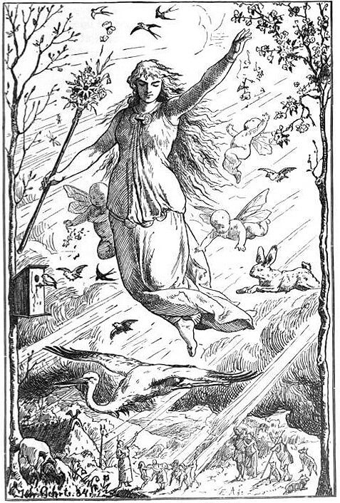 Eostre, the goddess of spring