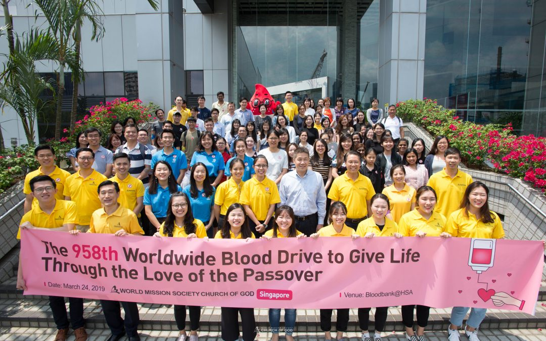 The 958th Worldwide Blood Drive to Give Life Through The Love of the Passover